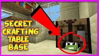 Making a Super Secret Base INSIDE a Crafting Table! (Secret Base challenge)