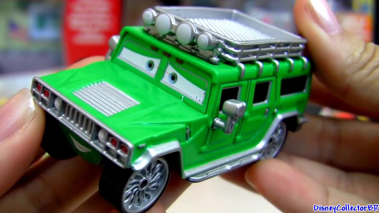 Disney Cars Diecast: Pixar Cars T.J. Hummer Die-cast Mattel Disney 1:55 Scale
