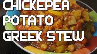 Chickpea & Potato Recipe - Mediterranean Stew Hotpot Casserole Vegan Healthy