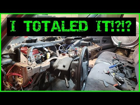I TOTALED My Friends Truck Installing An LMC Truck Dash! Dodge Ram Revival Part 7