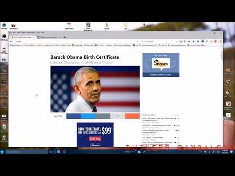 MORE PROOF OF TREASON... OBAMA\'S BIRTH CERT. WAS HIDING ON SNOPES ...