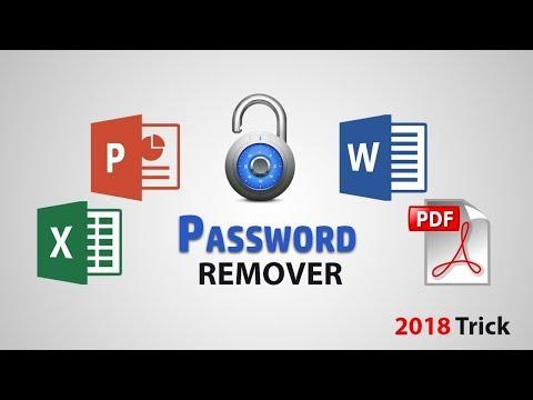 Unlock Password Protected Excel Word Powerpoint Pdf Files 2018