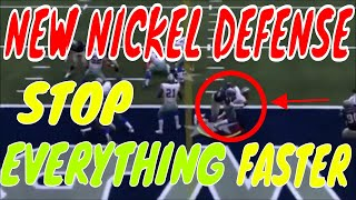 MADDEN 19 NEW NICKEL DEFENSE. BETTER COVERAGE WHILE BLITZING. FASTER BLITZES