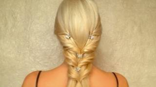 valentine s day prom wedding hairstyle for long straight hair tutorial
