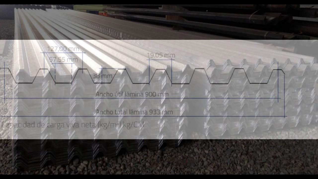 Laminas para techo de aluminio noral youtube - Laminas para pared ...