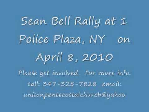 Sean Bell Rally at 1 Police Plaza; April 8, 2010: Coordinated By Rev Omar Wilks