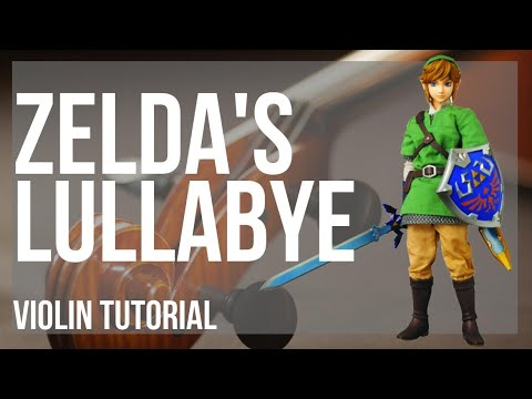 How to play Zelda's Lullabye (Legend of Zelda) by Koji Kondo on Violin (Tutorial)