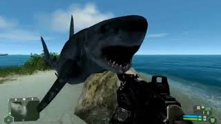 crysis shark attack on land too gone mad full hd 1080