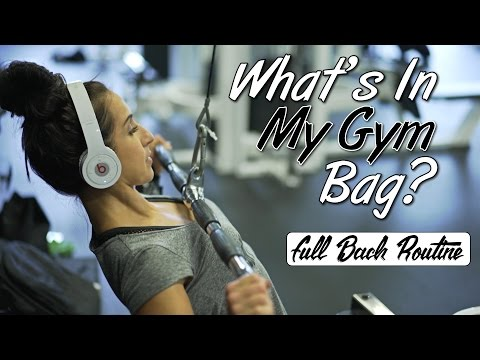 What's in my Gym Bag   Back Routine with commentary