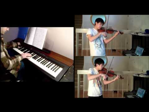 Disney  Beauty and the Beast piano, violin FT Josh Chiu 2