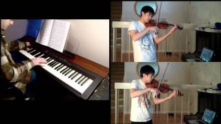 Disney - Beauty and the Beast (piano, violin) FT. Josh Chiu (2)