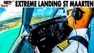 Extreme St Maarten Airport - Cockpit Landing!