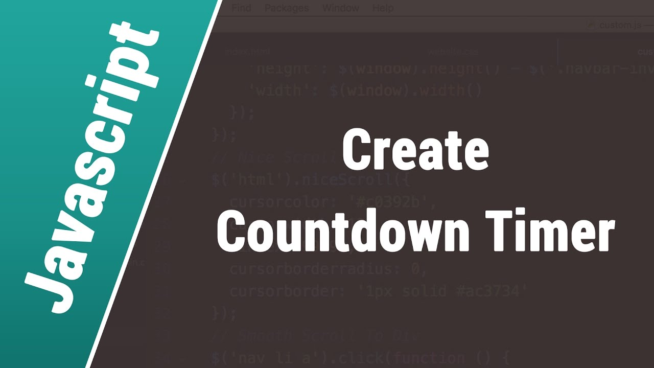 Javascript Arabic Tutorials - Create Countdown Timer