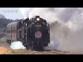 噴き出す煙 観衆を魅了 真岡鉄道真岡線で「SL重連運転」