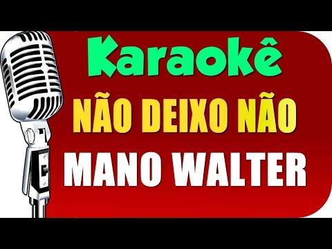🎤 Mano Walter - Não Deixo Não - Karaokê