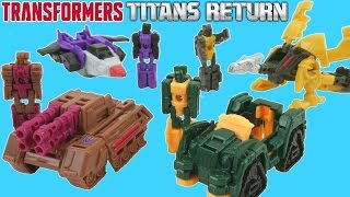 TRANSFORMERS TITAN MASTERS TITANS RETURN ONE STEP CHANGERS WAVE 2 COLLECTION REALLY LITTLE TOYS
