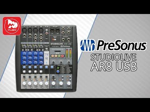 Микшерный пульт PreSonus StudioLive AR8 USB (встроенный аудио интерфейс)