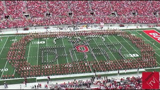 """Ohio State Marching Band """"D-Day Tribute"""" - Halftime vs. Kent State (9-13-2014)"""
