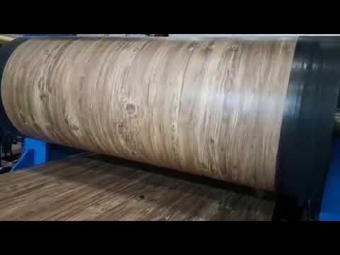 Нанесение декоративного покрытия Принтек на рулонную сталь