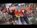Can She Survive a Buff Dudes Back Workout?   Men vs Women Workouts
