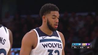 Karl-Anthony Towns Lowlights  (Lakers VS Timberwolves)