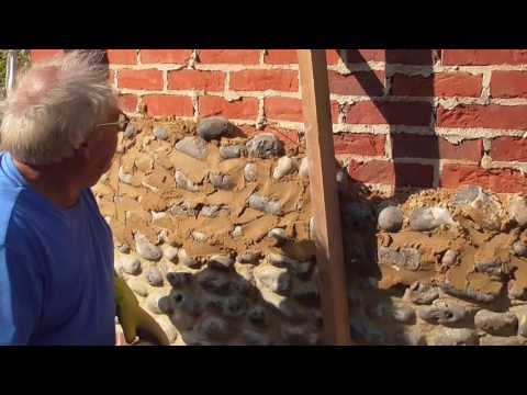 Norfolk Flint  Wall being built