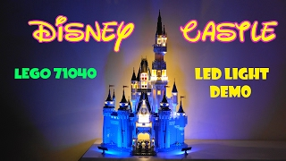 Lego 71040 Disney Castle LED Installed Demo