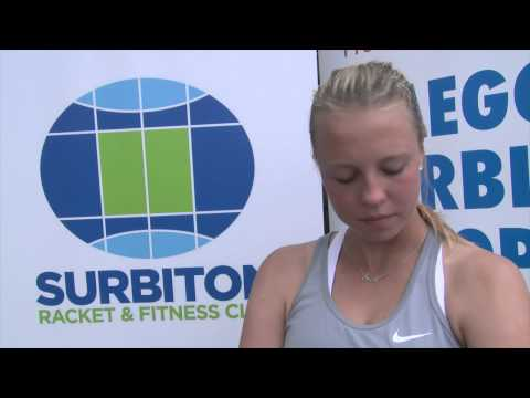 Anett Kontaveit after a Q/Final win at Surbiton Racket and Fitness Club