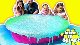 MELTING 100 POUNDS OF SLIME WITH VINEGAR IN A POOL! Don