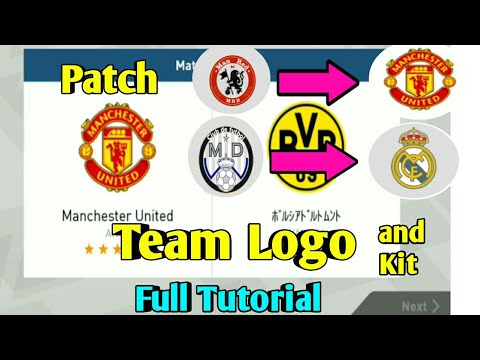 Patch Team Logo and Kits Pes 2018 Mobile Full Tutorial