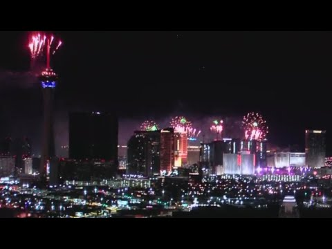 NYE Fireworks For Las Vegas Strip