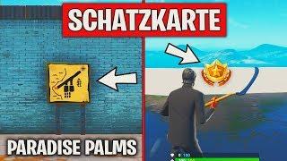 Fortnite: Folge dem Schatzkartenwegweiser in Paradise Palms ⭐ Herausforderung Woche 8 | Detu