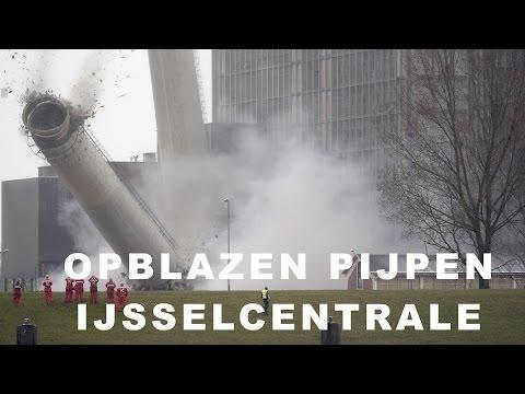 Opblazen Pijpen | Slopen IJsselcentrale Zwolle | Harculo | Slow Motion