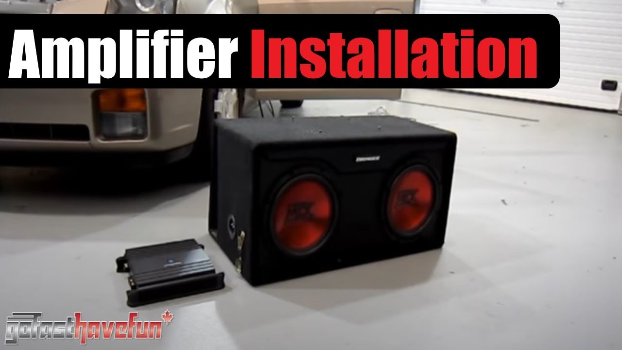 hight resolution of amplifier and sub woofer installation