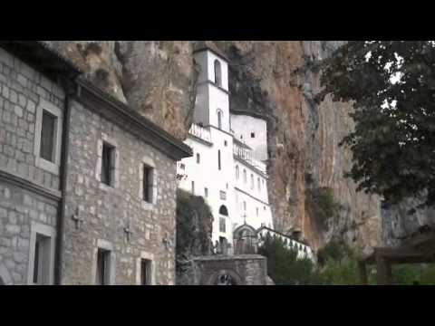 Ostrog monastery and road to Podgorica