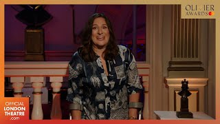 Emilia wins Best Entertainment or Comedy Play | Olivier Awards 2020 with Mastercard