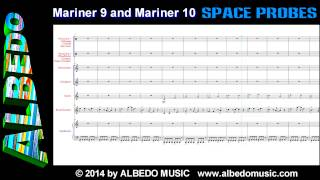 Mariner 9 and Mariner 10 from Space Probes by ALBEDO. Scrolling Sheet Music.