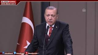 KHK'lara ilişkin ilk açıklamayı Cumhurbaşkanı Tayyip Erdoğan yaptı