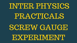 Physics Practical Screw Gauge Experiment video