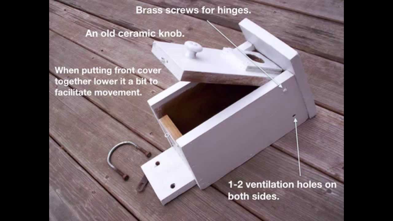 Bird house mounted on a pvc pipe youtube for How to make pvc pipe birds