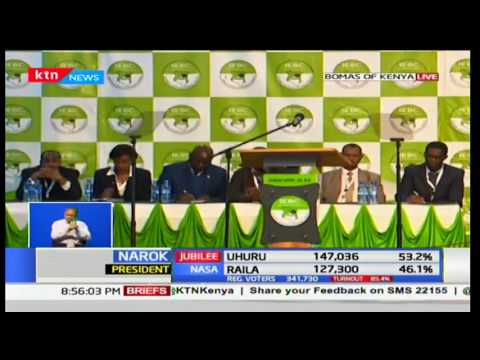 IEBC chair gives his third update of the day as at 10th August 2017