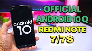 Android 10 Q Redmi Note 77s Install Full Process Hindi