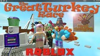 Thankful for YOU! The Great Turkey Race Roblox Thanksgiving Obby SallyGreenGamer Geegee92