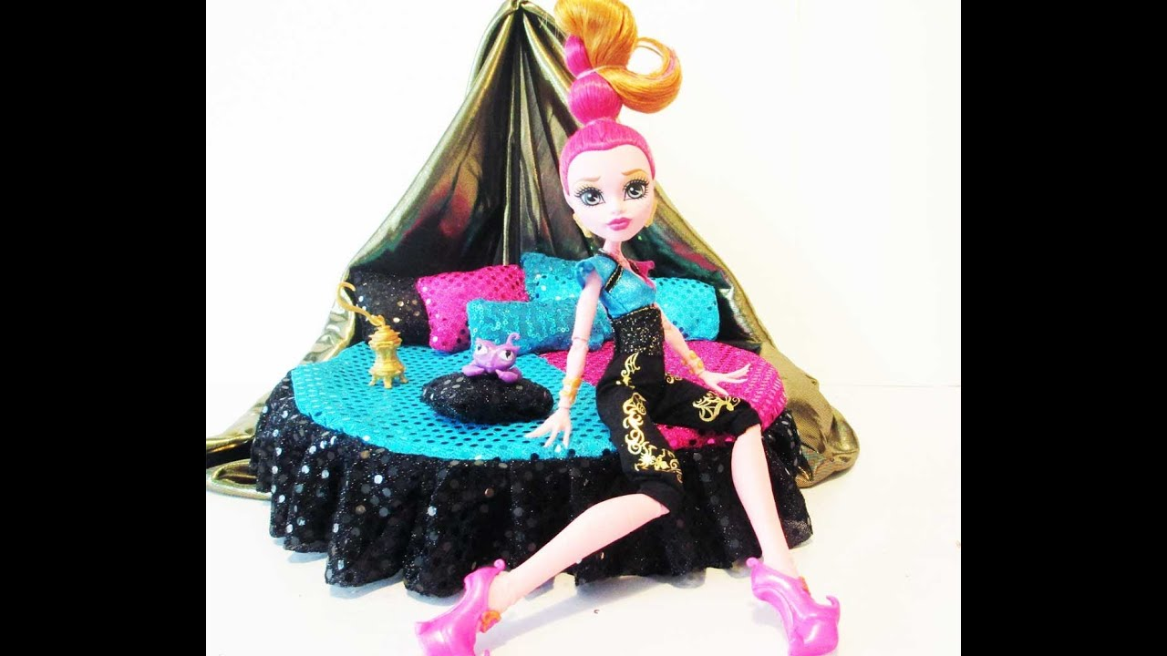 How to make a Gigi Grant Doll Bed TutorialMonster High  YouTube