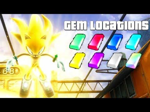 Sonic 06 P-06 Demo 2 - All Gem Locations + Super Sonic