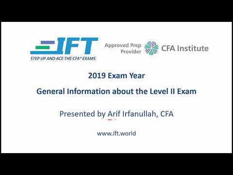 2019 Level II CFA - Information about the Exam and How to