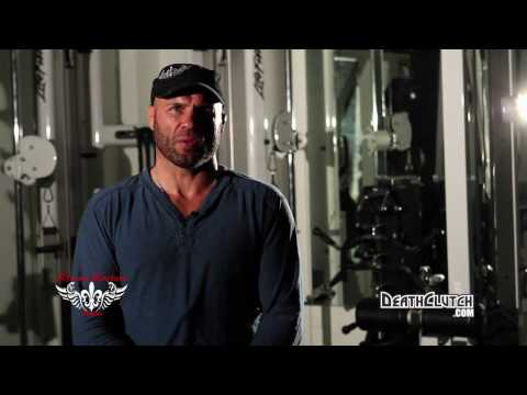 Randy Couture training with Brock Lesnar