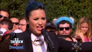 "Demi Lovato performs ""Let it Go"" on The View"