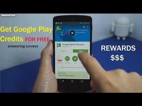Google Opinion Rewards - Free Google Play Store Credit - YouTube