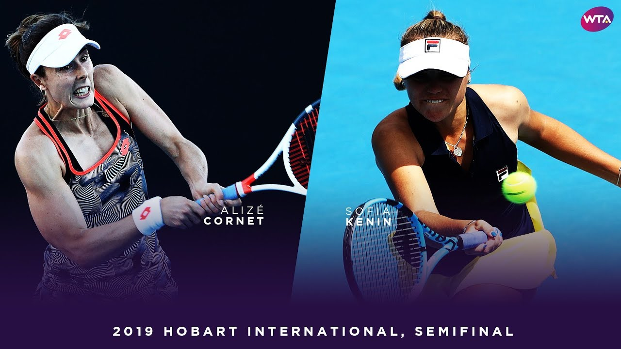 Sofia Kenin vs. Alizé Cornet | 2019 Hobart International Semifinal | WTA Highlights